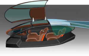 GT EV Street Car Panoz Green4U cockpit