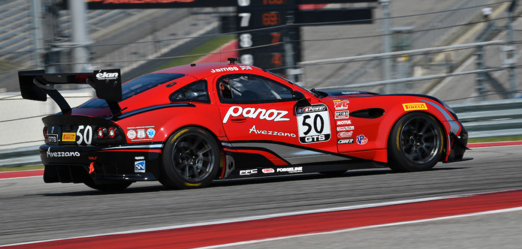 Ian James Panoz Avezano win at Circuit of the Americas COTA GT GTS