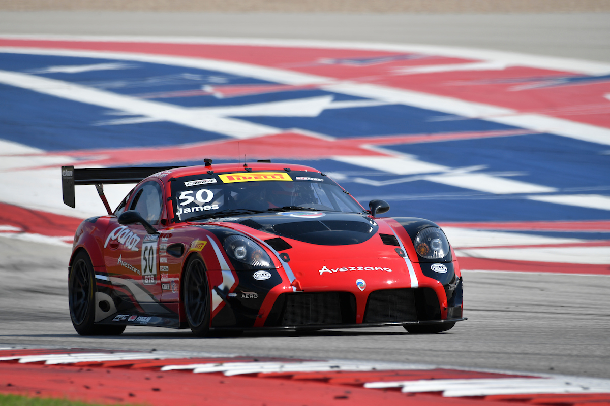 Ian James Panoz Avezano win at Circuit of the Americas COTA GT GTS